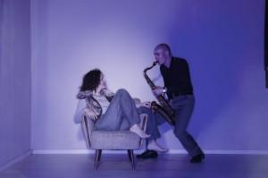 Carola (Gesang/Piano) und Andreas Laux (Saxophon/Percussions)