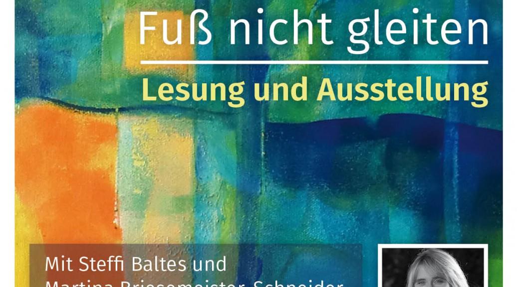 Flyer Lesung und Ausstellung